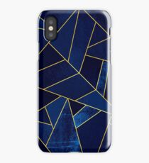 Blue Stone / Yellow Lines iPhone Case/Skin
