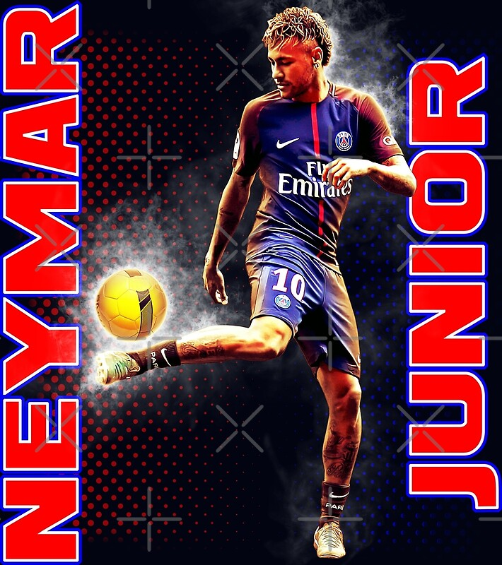neymar psg tshirt posters redbubble. Black Bedroom Furniture Sets. Home Design Ideas