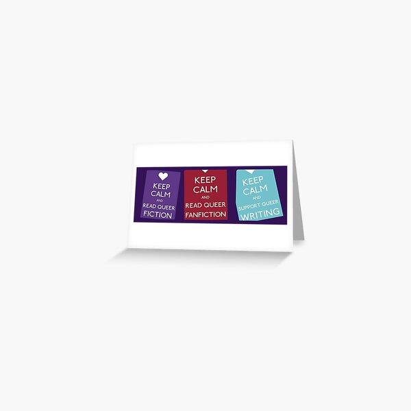 Keep Calm Banner  Greeting Card