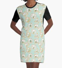 Terrarium Dice Graphic T-Shirt Dress