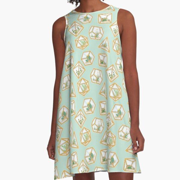 Terrarium Dice A-Line Dress