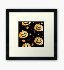Plastic Pumpkin Print (over black) Framed Print