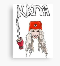 "Katya Zamo, RuPaul's Drag Race ""Bright Red Scare"" Canvas Print"