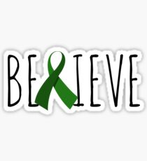 Believe – Green Ribbon Sticker