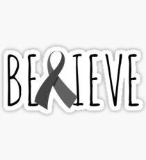 Believe – Grey Ribbon Sticker