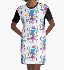 Electric Kiss Graphic T-Shirt Dress
