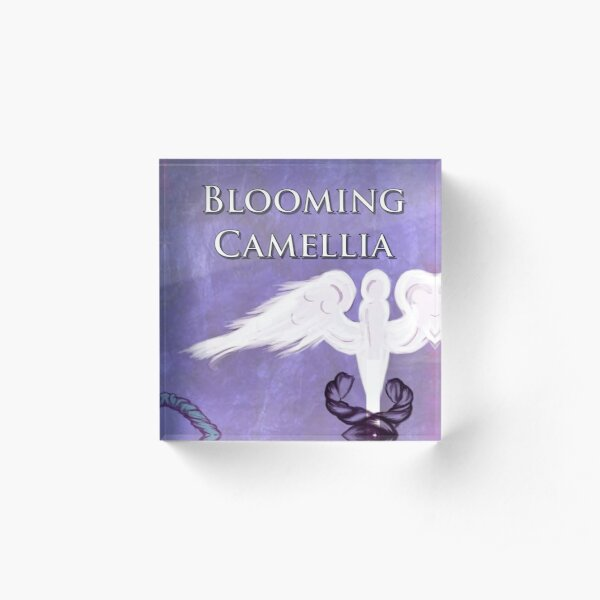 Blooming Camellia Cover  Acrylic Block