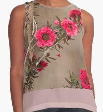 Pretty red blooms  Contrast Tank