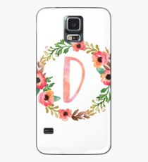 Pink Floral D Case/Skin for Samsung Galaxy