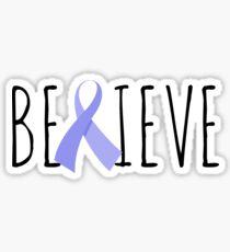 Believe – Periwinkle Ribbon Sticker