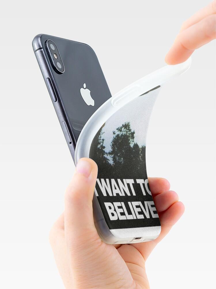 Alternative Ansicht von Ich möchte glauben iPhone-Hülle & Cover