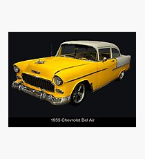 1955 Chevy Bel Air Harvest Gold Photographic Print