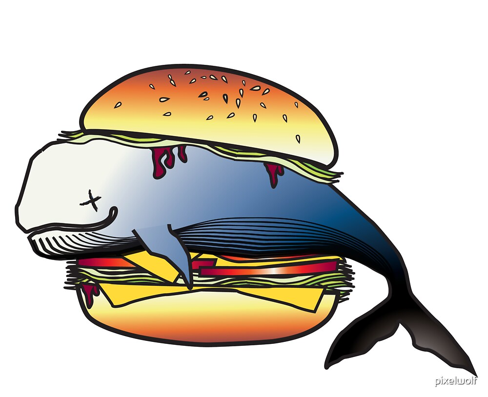 Whale Burger by pixelwolf