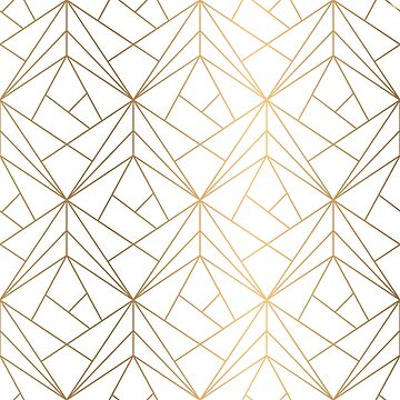 Golden Geometric Endless Pattern by amillear