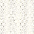 Golden Geometric Endless Pattern by Angela Rafter