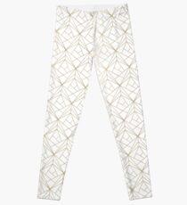 Golden Geometric Endless Pattern Leggings