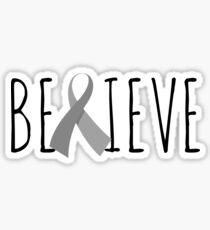 Believe – Silver Ribbon Sticker
