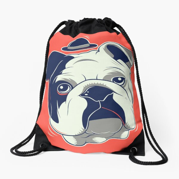 Gentleman Pet Drawstring Bag