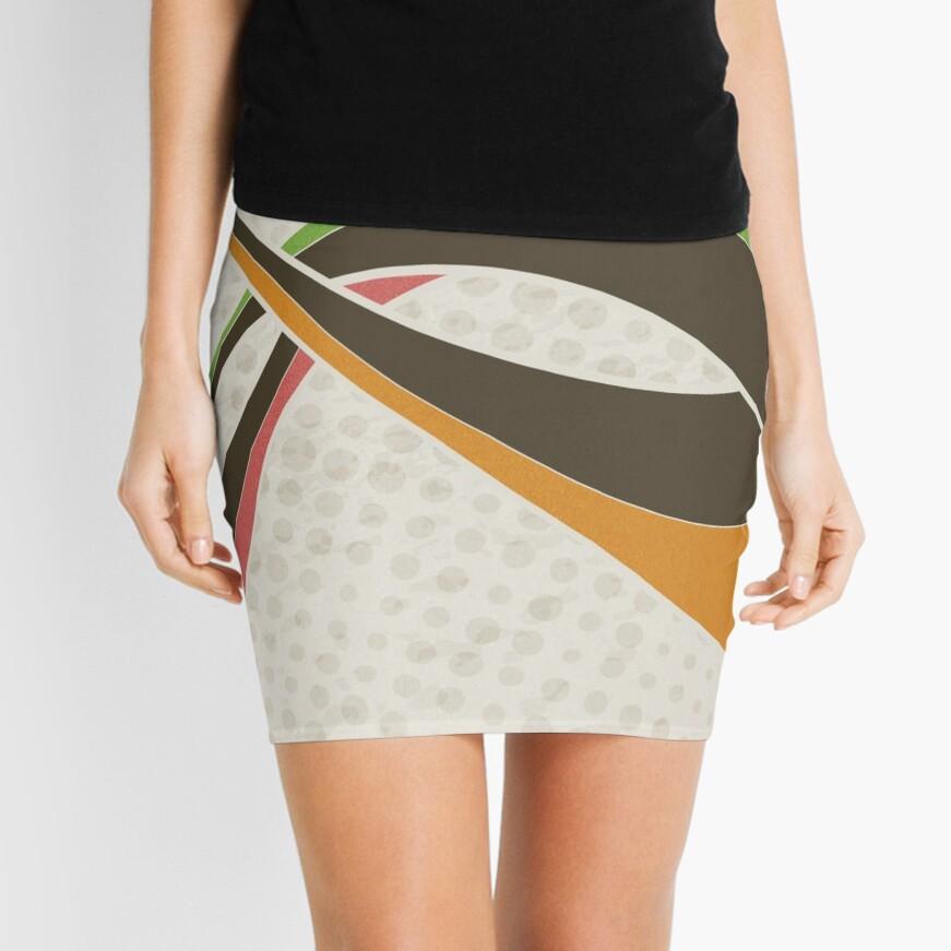 Abstract Illustration Mini Skirt Front