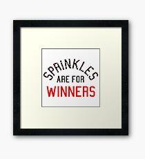 Sprinkles Are For Winners Framed Print