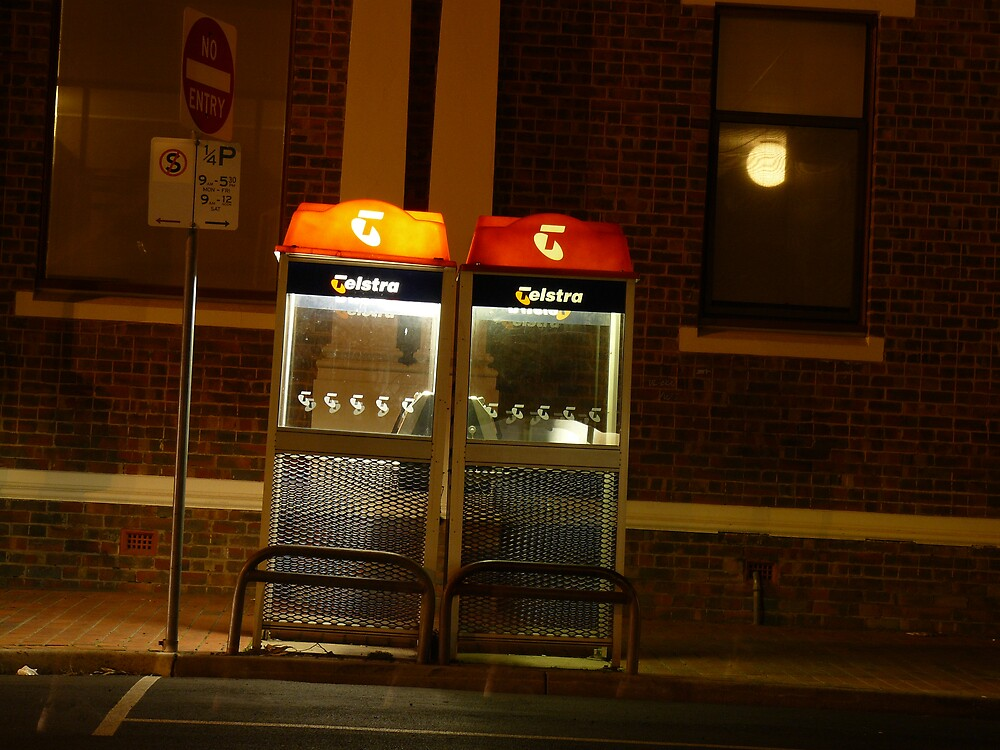 Two Phone Booths by Joan Wild