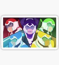 Voltron Split Screen Sticker