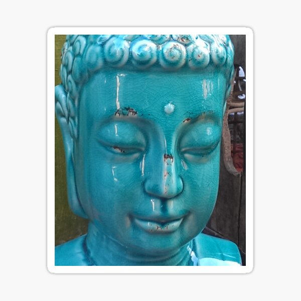 Street Corner Buddha Sticker