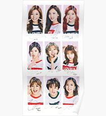 TWICE signed #2 Group  Poster