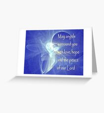 May Angels Surround You Greeting Card