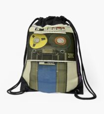 Retro Technology Magnetic Tape Drive Drawstring Bag
