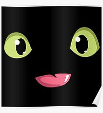 Toothless face smile Poster