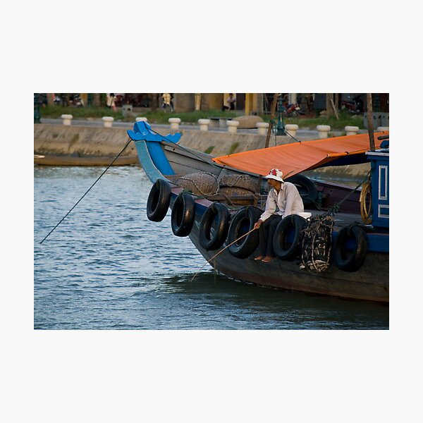Fisherman in Hoi An, Viet Nam Photographic Print