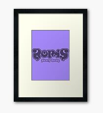 Boris - Purple Heavy Rocks Framed Print