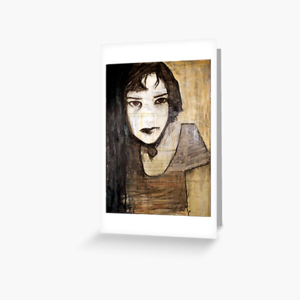 portrait of the assassin Greeting Card