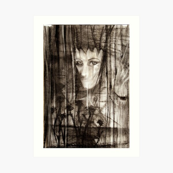 portrait of Lydia and friend Art Print