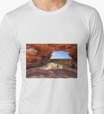 Peaking Through Natures Window  Long Sleeve T-Shirt