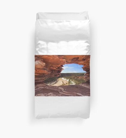Peaking Through Natures Window  Duvet Cover