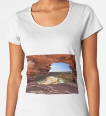 Peaking Through Natures Window  Women's Premium T-Shirt