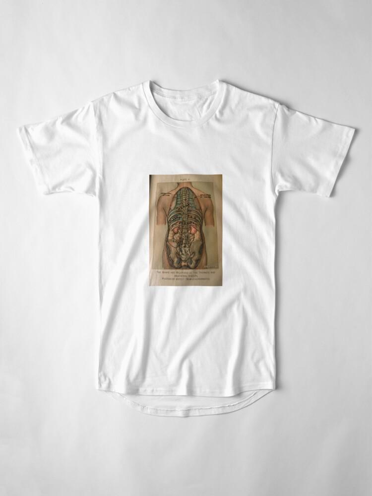 Alternative Ansicht von Antike Anatomie Buch Zeichnung Longshirt