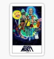 RICK AND MORTY FAN ART Sticker