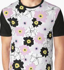 Floral Illustration Graphic T-Shirt