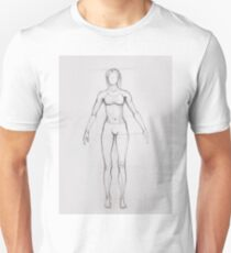 Drawing illustration of anatomy girl seen from front T-Shirt