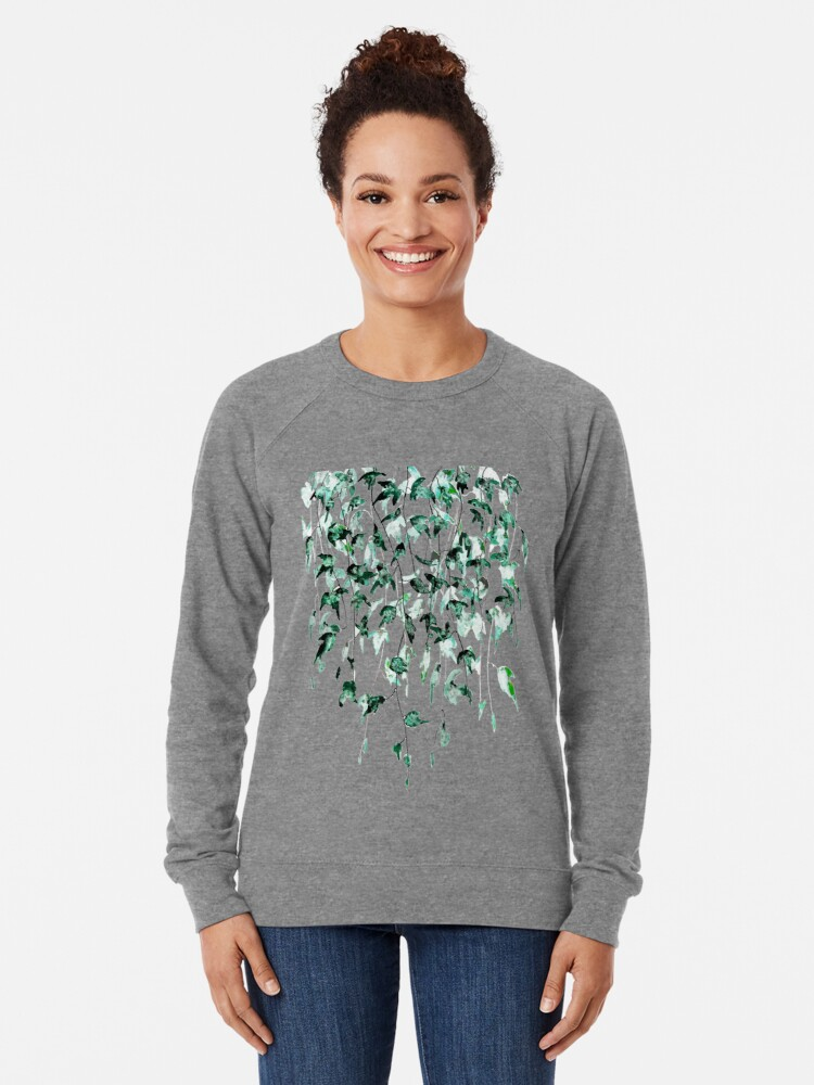 Alternate view of Ivy on the wall  Lightweight Sweatshirt