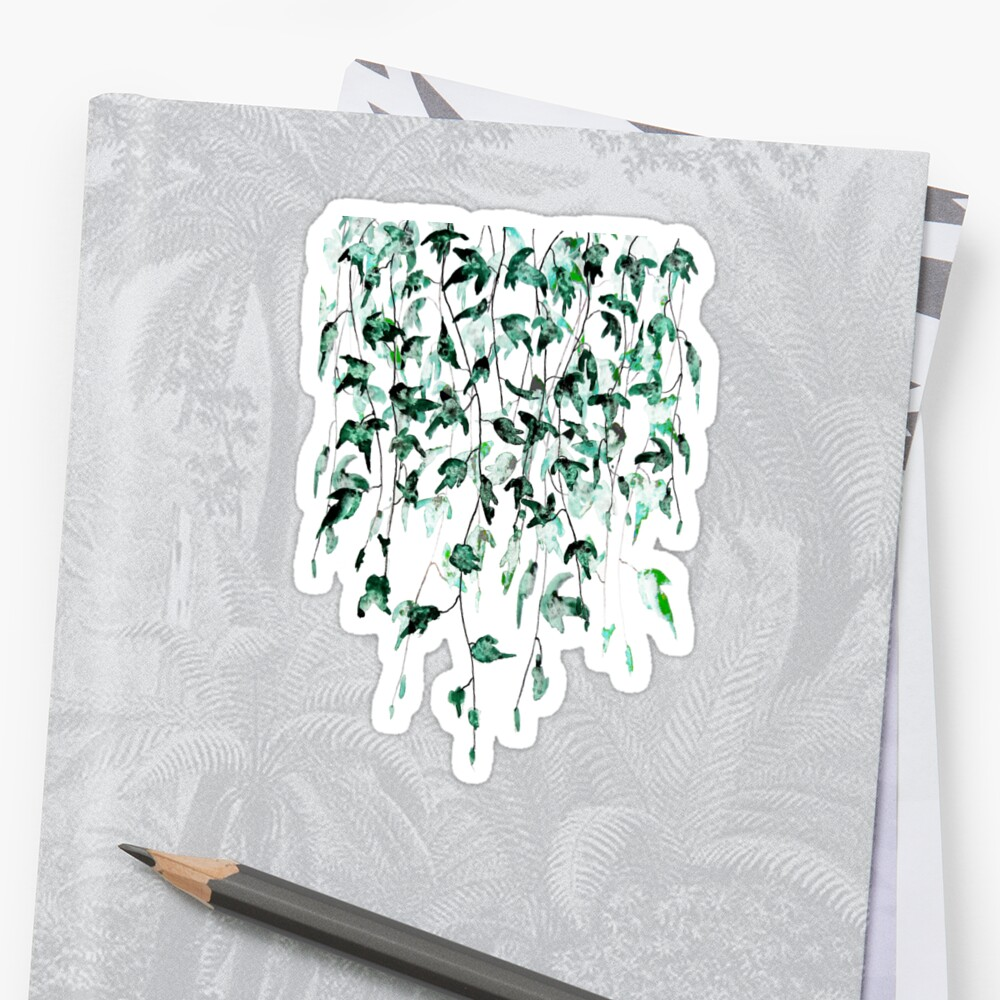 Ivy on the wall  Stickers