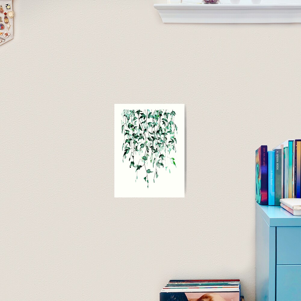 Ivy on the wall watercolor Art Print