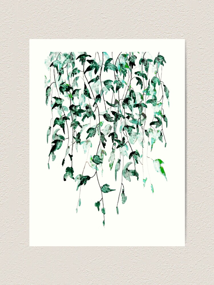 Alternate view of Ivy on the wall watercolor Art Print