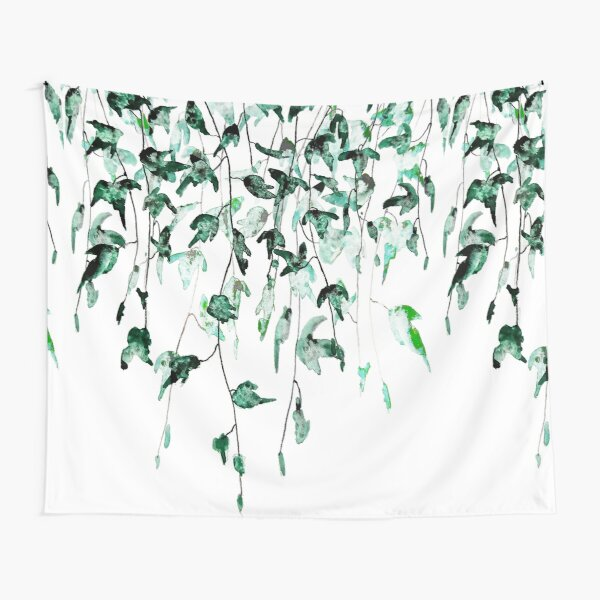 Ivy on the wall watercolor Tapestry