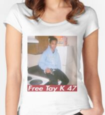 FREE TAY K SHIRT Women's Fitted Scoop T-Shirt