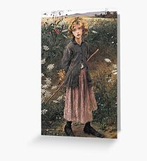 Young Girl 1881 Jules Bastien-Lepage Greeting Card