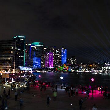 Sydney Skyline - Night by Nathanxd33